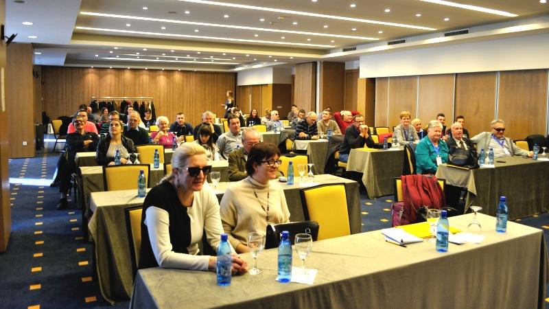 Bild från stor konferens.
