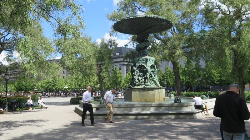 Kungsträdgården med Molins fontän