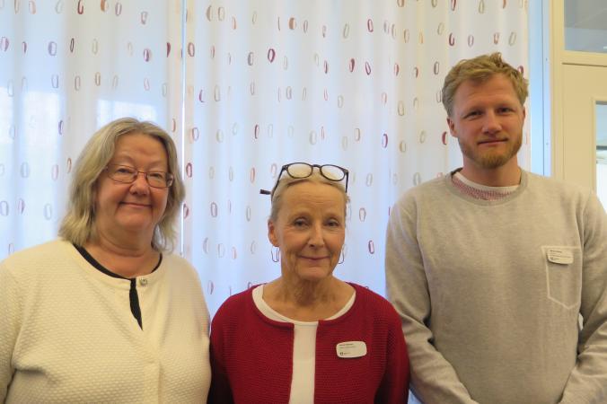 De tre pedagogerna Britt-Marie Kekonius, Maria Fällman och Simon Alvring