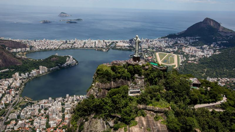 Vy över Rio de Janeiro