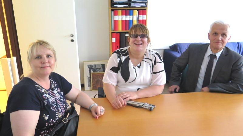 Safeta Kovacs-Barkovic, Amna Alisbahic och Fikret Zuko.