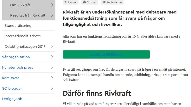 Skärmdump om Rivkraft från MFDs webbplats