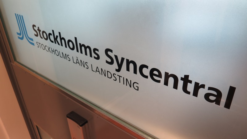 Skylt Stockholms Syncentral