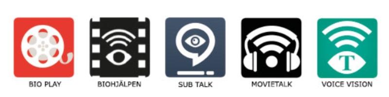 Bild på ikoner för syntolkningsappar.
