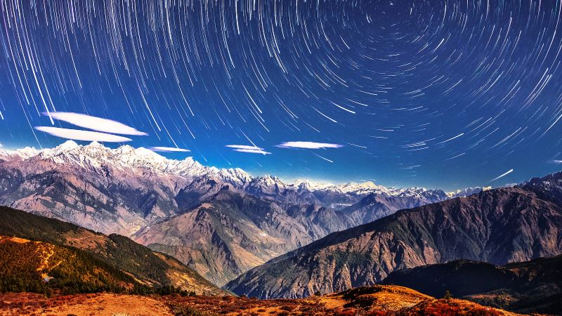 Bild på berg i Himalaya