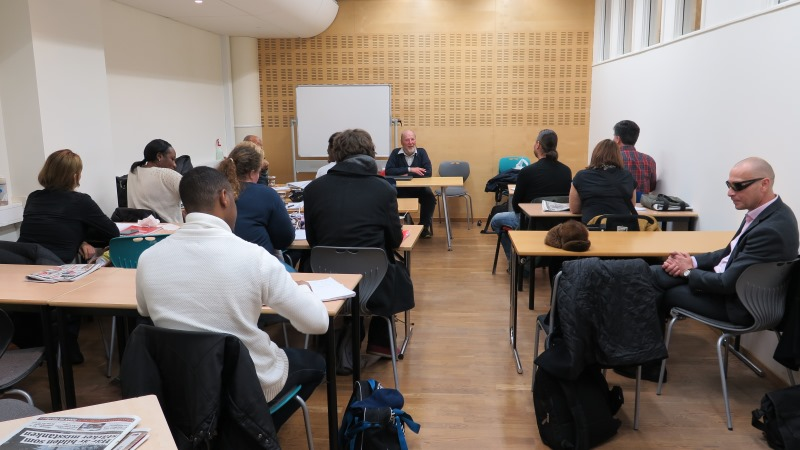 Ett klassrum med elever.