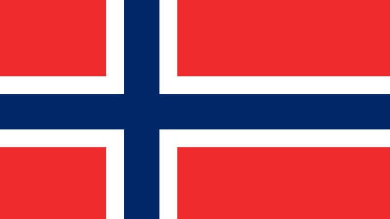Norges flagga.