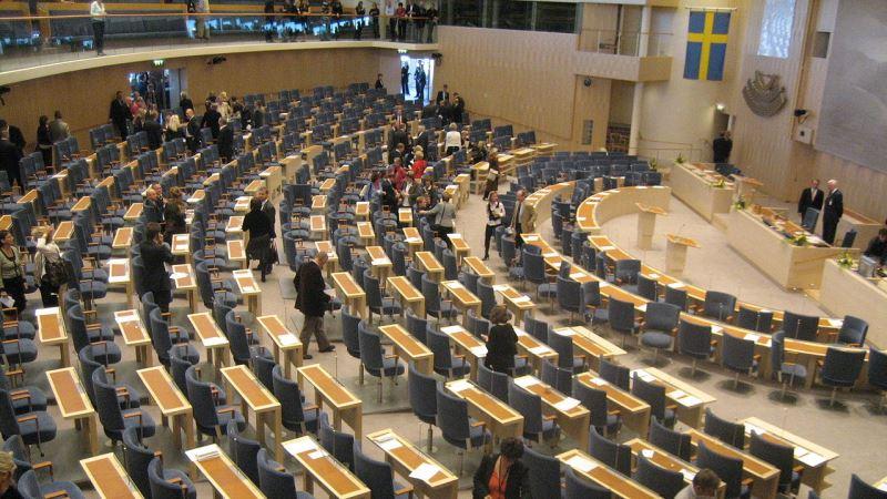 Plenisalen i Riksdagshuset.
