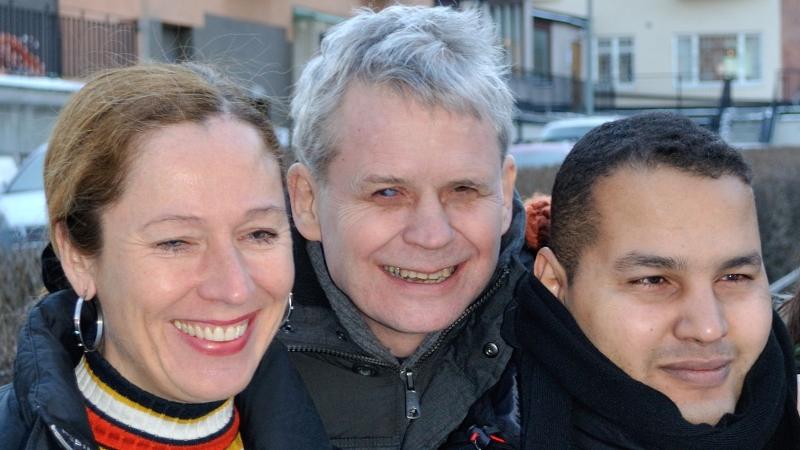 Bild på ombudsmännen Pia-Lena Krischél, Lennart Karlsson och Hamaddah Mansour.