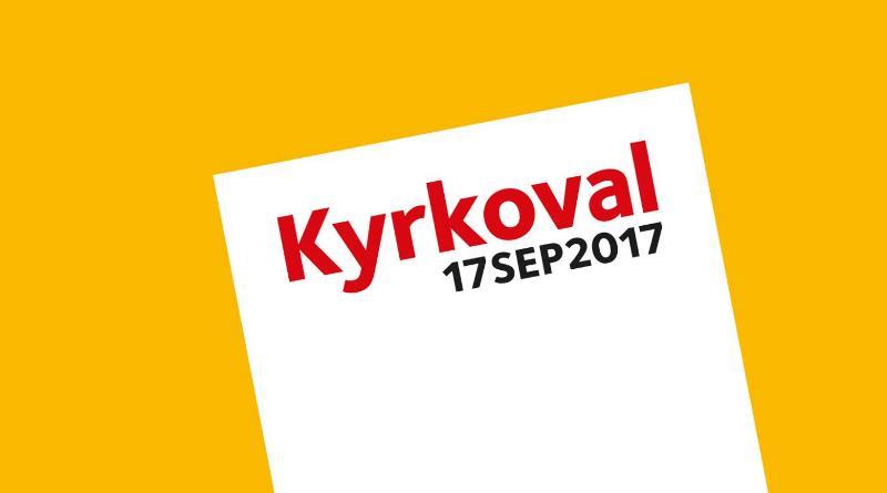 Logga med texten Kyrkoval 17sept2017.