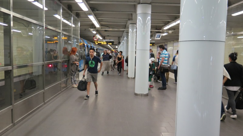 Bild från tunnelbanan
