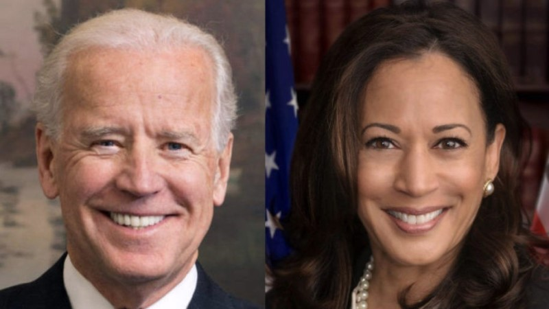 Ansikten på en gråhårig äldre man och på en medelålders mörk kvinna med brunt hår. Båda ler.